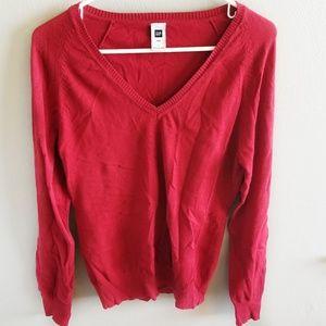 Gap Large V Neck Long Sleeve Sweater